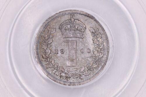 1900 1D PCGS PL-66 Great Britian Maundy Penny Queen Victoria 3rd Portait KM-775
