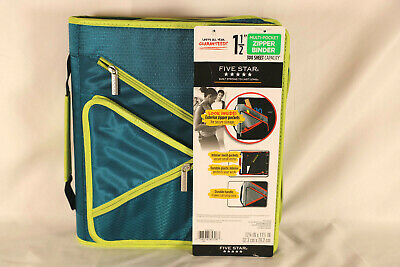 Five Star - 1.5 Multi-pocket Zipper Binder - 300 Sheet Capacity Teal Color