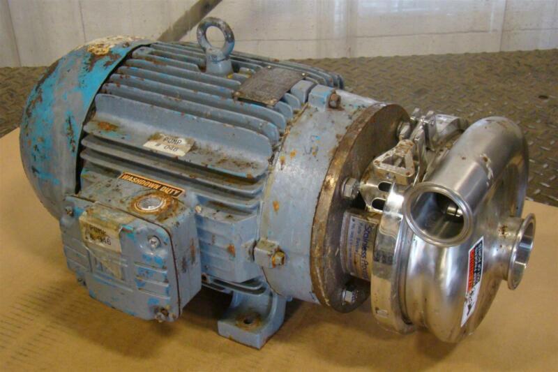 Waukesha Cherry Burrell Sanitary Centrifugal 15HP Pump WEG 01536EP3E215JM 2065