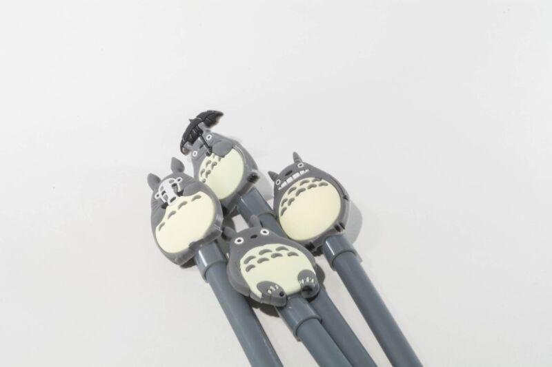 My Neighbor Totoro pen 4pcs cute grey umbrella no face mask .38 mm black ink