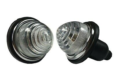 2 x Universal Lucas Style White indicator Lamps Lights CLASSIC MINI /KIT CHM13WZ
