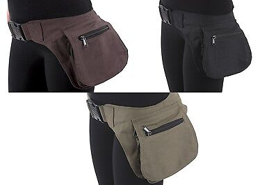 Vegan Leather Waist Hip Pack Bag Belt Burning Pouch Party Playa Rave woman (Party Leather)