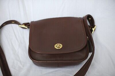 Coach Authentic Brown Leather Saddle Bag