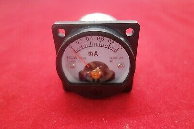 1pc Dc 0-1ma Analog Ammeter Panel Amp Current Meter So45 Directly Connect