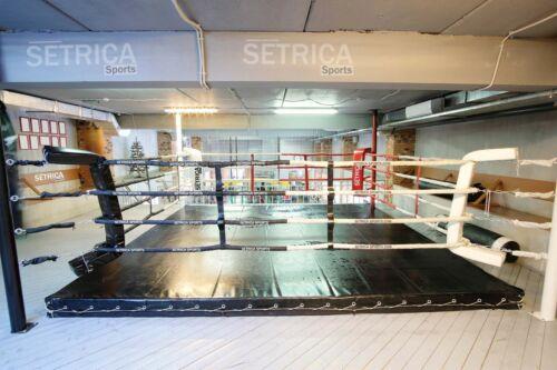 Vinyl Boxing Professional Wrestling, Boxing, MMA , UFC,Ring Cover - 18 FT Black
