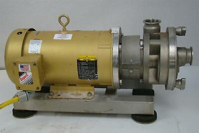 Ampco 5hp Centrifugal Sanitary Pump Baldor Super-e 230460v Asp215-22-18