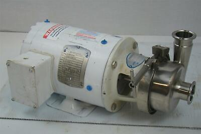 Stainless Centrifugal Pump Sanitary Tri-clamp Baldor 1hp 3ph Cssewdm3555t