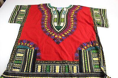 Caribbean Fashions African Traditional Costume Shirt 2XL XXL