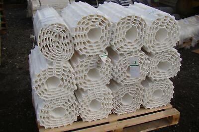 Qty Of 12habasit Plastic Mod Conv Belt Flat Top Polyprpylene White 10x20