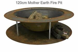 120cm Cast Iron Fire Pit Table Industrial Outdoor Heater, BBQ