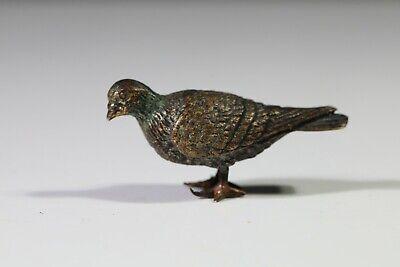 Vienna Style  bronze Pigeon miniature