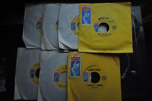 STAX MOD SOUL LOT 6 great 45's unplayed old store stock Eddie floyd Johnny tayl