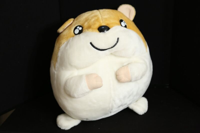 "Hamtaro JUMBO Plush Toy Doll 15"" x 15"" Super RARE"