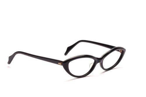 Vintage Brille Schwarz 60er Jahre Mod. Giralda von Indo in 50 - 18 mm