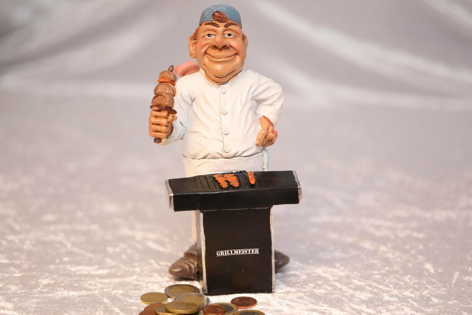 Spardose Grillmeister Grillen Sparschwein 20 cm, Money  Gravur mit Namen möglich