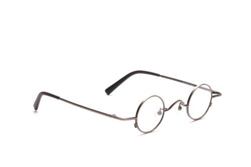 Kleine runde Brille Metall Fassung Antiksilber kleine Gläser in 32 - 20 mm