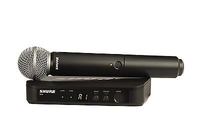 Shure BLX24/SM58 Handheld Wireless Vocal Microphone | Band H9 (512-542MHz) | New