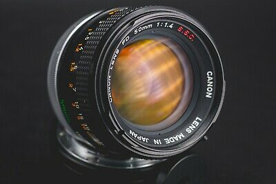 Canon 50mm F/1.4 SSC FD mount Lens / Good condition but read / Sample photos!