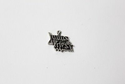 Deadstock Vtg JUDAS PRIEST Small Metal Pendant Pewter British Steel (Judas Costume)