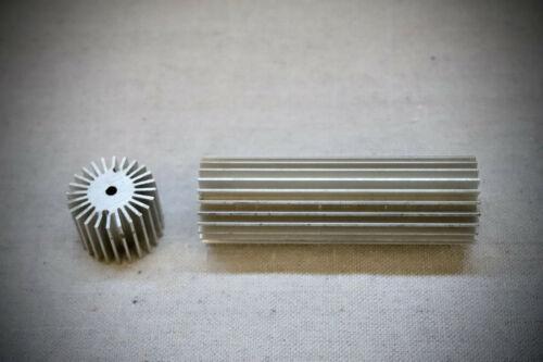 "Non-Anodized LED Heat Sinks - 1.25"" Diameter - 4"" Length - Customizable"