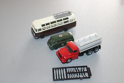 3 Stück Fahrzeugmodelle Ikarus Bus Barkas und Tank-Lkw Spur H0 #P420 online kaufen