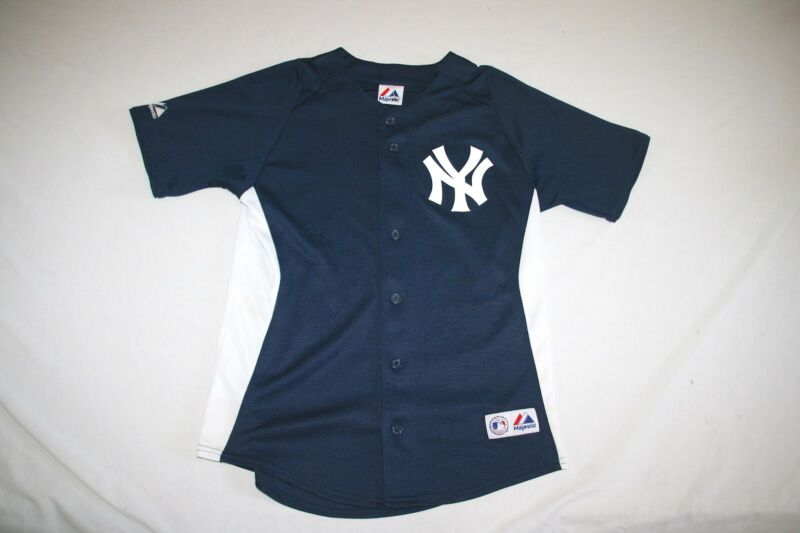 reputable site 1db53 82ac8 NY Yankees Jersey Majestic Youth L Blue NEW | eBay