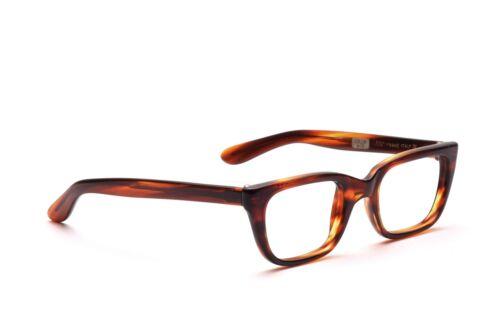 Vintage Brille Fassung 60er Jahre Braun Herren Safilo Mod. Monza 48-22mm B1