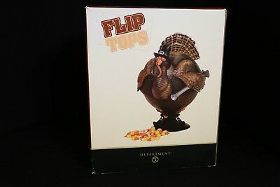 Dept. 56 Fip Tops TURKEY Shaped Pedestal Covered Bowl NEW (open box)
