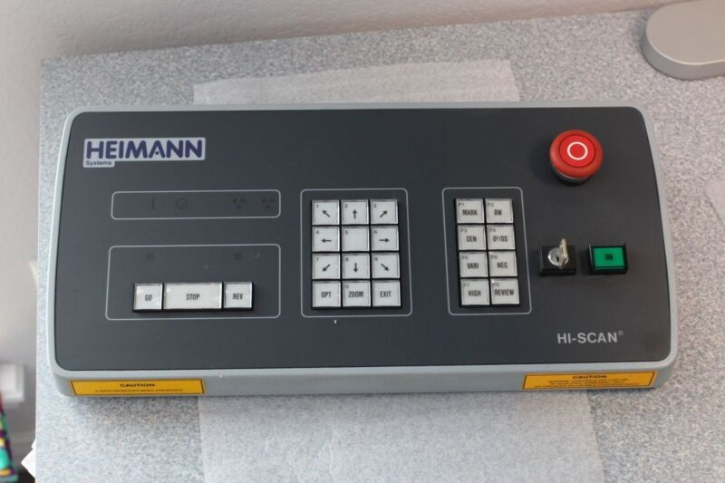 Heimann X-Ray Hi-Scan HS2416 Inspection Security Scanner Control Councel Panel