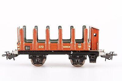 Märklin 372, Spur 00, GüterwagenRungenwagen aus Blech mit Bremserhaus
