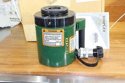 Simplex 50 Ton 2 Stroke Lock Nut Load Retaining Hydraulic Cylinder Usa Made