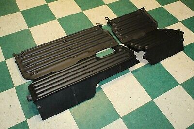 02-08 RAM 1500 Black Metal LH RH Rear Back Seat Cargo Extender Tray Pair OEM
