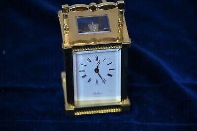 St James Brass Carriage Clock 11 Jewel with Original Key