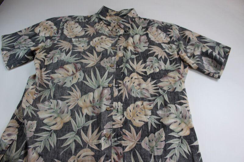 ce2f4d35 Cooke Street Honolulu Floral Cotton CAMP SHIRT Large L | eBay