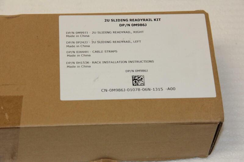 "DELL CN-0M986J-01078 PowerEdge R710 Sliding Ready Rail Kit ""Brand  New"""