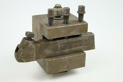 J.h. Williams Turning Tool Holder With Lathe Turret Block No. 3-s