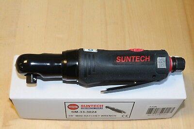 """Suntech 3/8"""" Mini Stubby Reversible Air Pneumatic Ratchet Wrench Comfort Grip"""