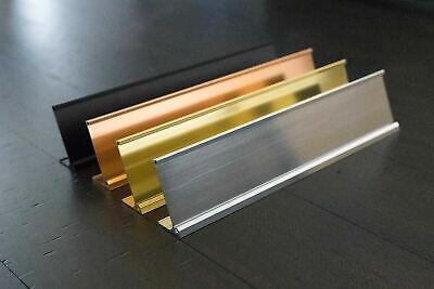 Office Desk Name Plate Holder - 2 X 8 2 X 10