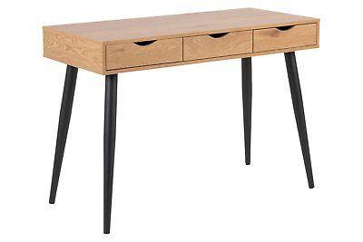3 Schublade Eiche Schreibtisch (PKLine Schreibtisch NETE 3 Schubladen Computertisch Arbeitstisch Wildeiche Dekor)