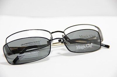 MAGIC CLIP WOMEN'S EYEGLASSES M364 BLACK FRAME POLARIZED CLIP ON (Polar Eyeglasses)