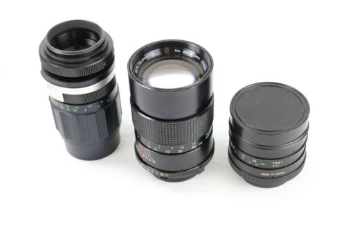 Lot of 3 vintage lenses
