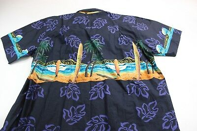 (Paradise Style Hawaii Back Panel Surfboards Hawaiian CAMP SHIRT XL Extra Large )