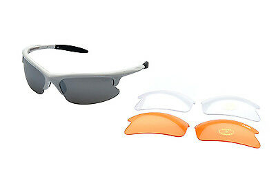 RAVS - Radbrille - Sportbrille -Sonnenbrille Fahrradbrille inkl. 3 Wechselgläser