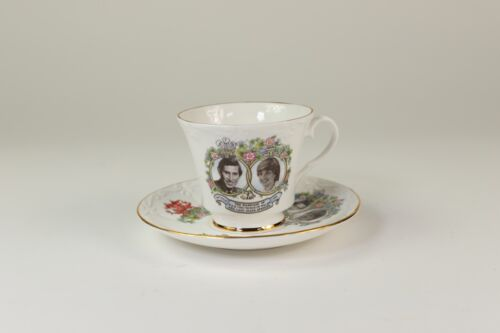 The Prince of Wales & Lady Diana Spencer Royal Wedding China Tea Cup Plate Set