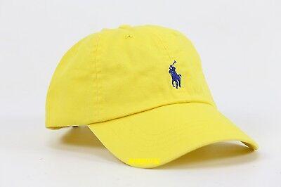 NWT POLO RALPH LAUREN UNISEX SIGNATURE PONY LOGO BASEBALL CAP HAT ONE SIZE