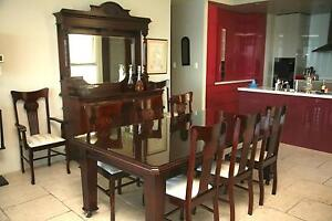 Antique Dining table, full set 8 chairs, plus mirrored sideboard Belconnen Belconnen Area Preview