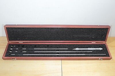 New Starrett Metric Extension Rod Inside Micrometer Set 200mm-800mm 0.01mm