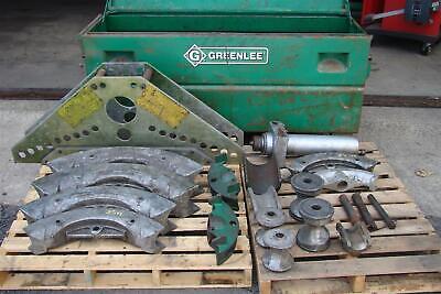 Greenlee 884 885 Hydraulic Conduit Pipe Bender Includes 43.532.52 Dies