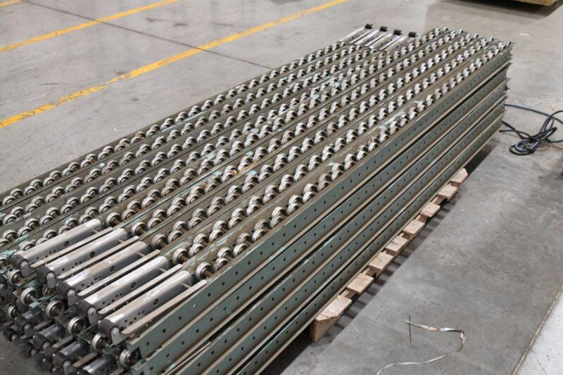 """Hytrol Skatewheel Pallet Flow Rail Roller Tracks 98"""" Long ..."""