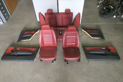 2008-2012 BMW 135i Front & Rear Seat Set w/Door Trim Panel Cpe Bucket OEM